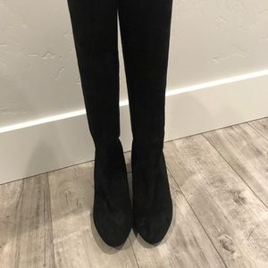 STUART WEITZMAN Livia 80 suede knee-high boot
